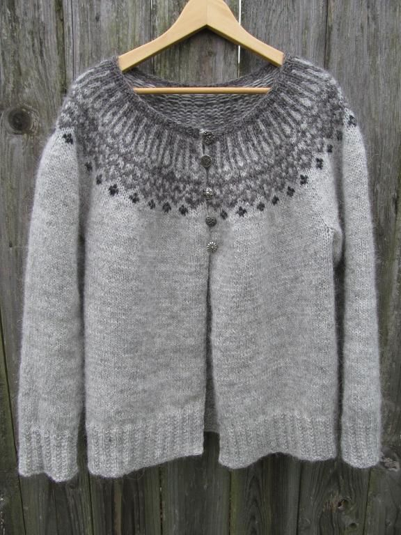3d88f0e579f9d1 Top down Icelandic Cardigan. Pattern is free with the purchase of the class  for it through Craftsy.