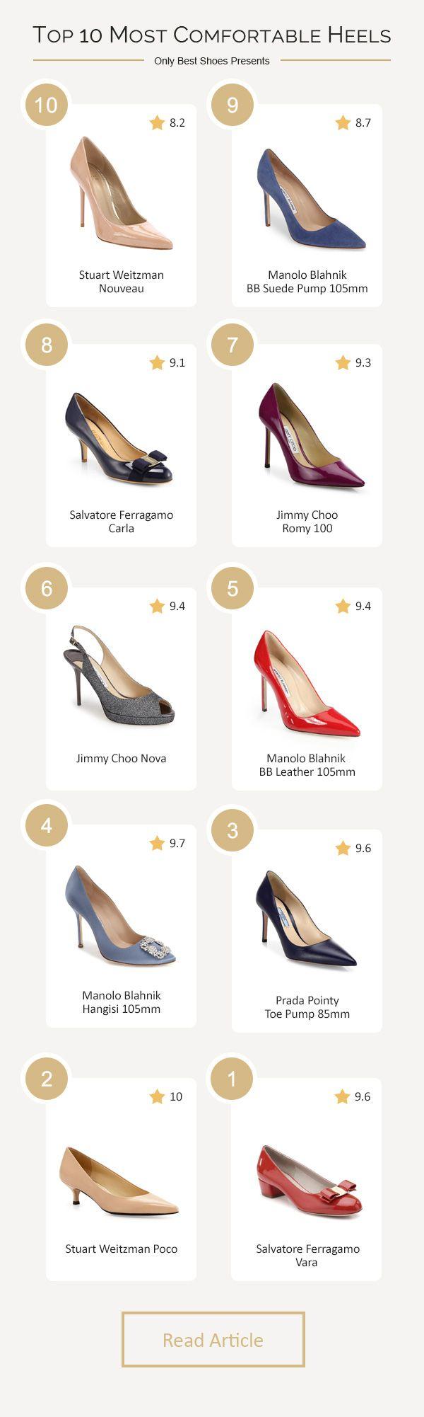 Top 10 most comfortable heels