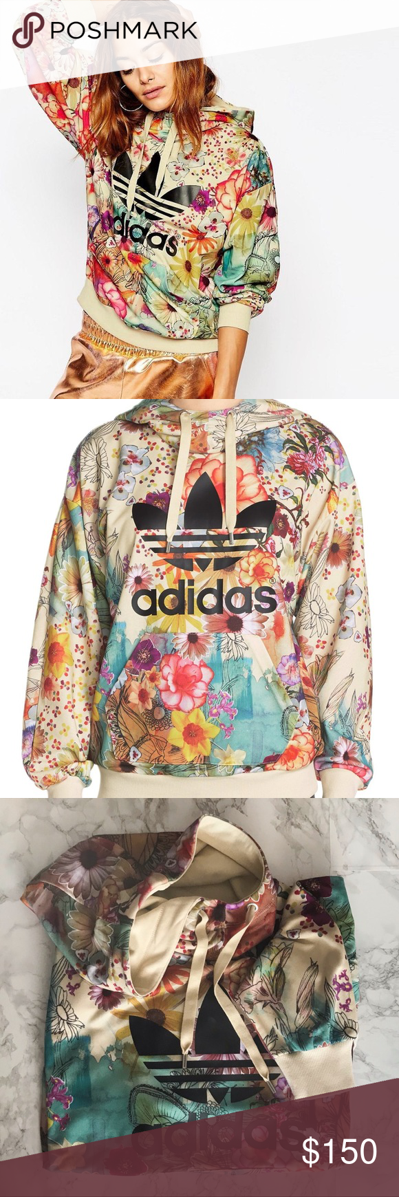 Adidas Originals Confetti Farm Hoodie Hoodies Fashion Adidas Originals [ 1740 x 580 Pixel ]
