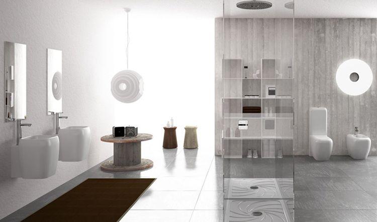 Badkamer Accessoires Action : Erstaunliche badezimmer bäder von keramik cielo mit großen spiegel