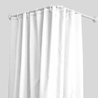 Cortinero o tubo esquinero para ba os o probadores de ropa for Probadores de ropa interior