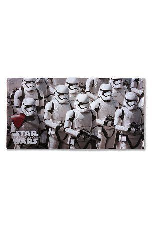 Badelagen badelagen med star wars motiv. str. 75 x 150 cm. <br><br>100% bomuld