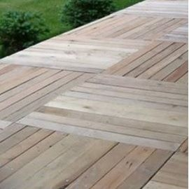 Using pallets as decking is a great and cheap alternative for Alternative to decking