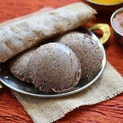 Healthy, vegan Ragi (Finger Millet) Idli Dosa, batter made using mixie. ragi idli makes healthy breakfast or dinner option