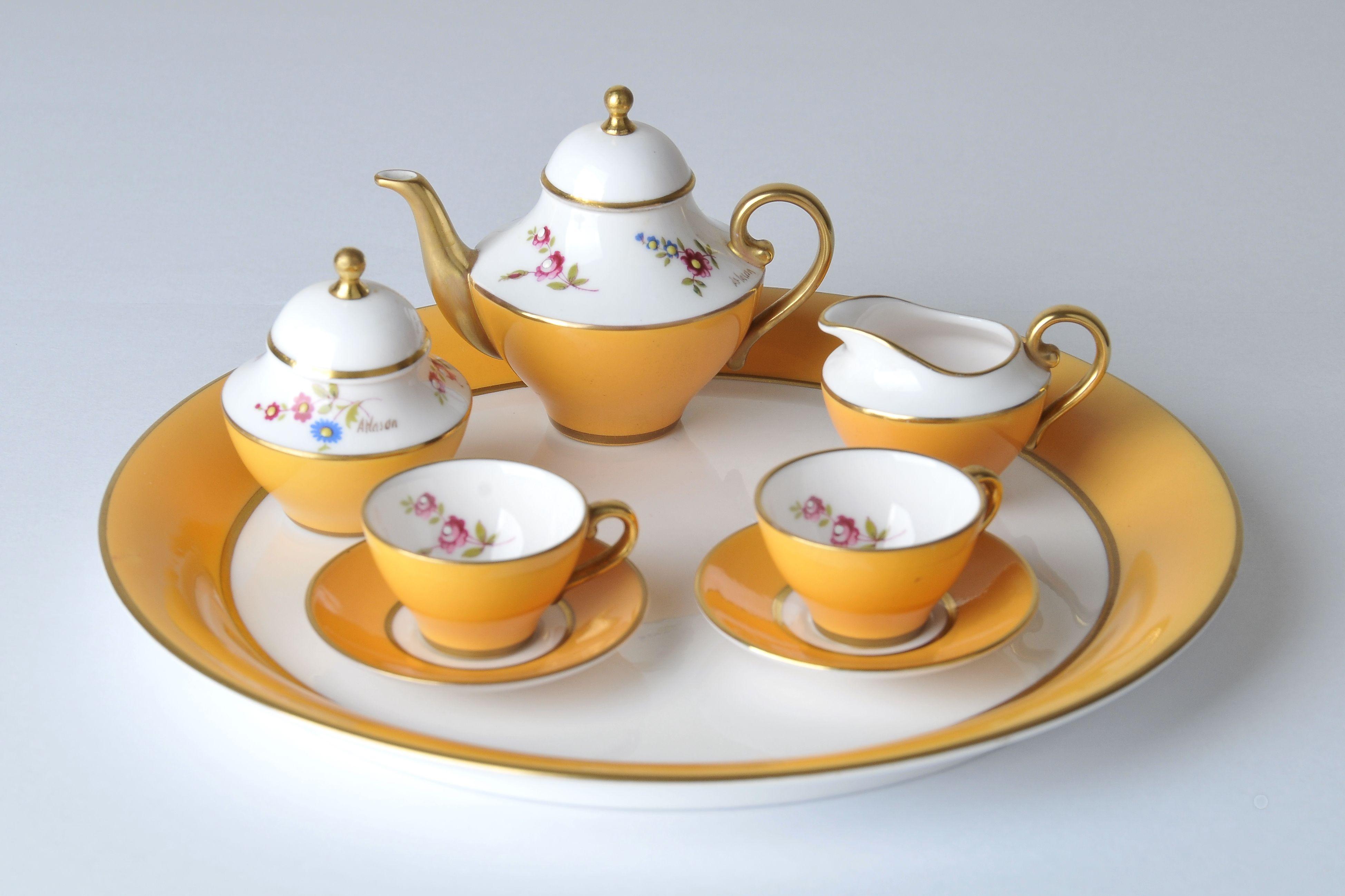 Miniature tea set Caverswall