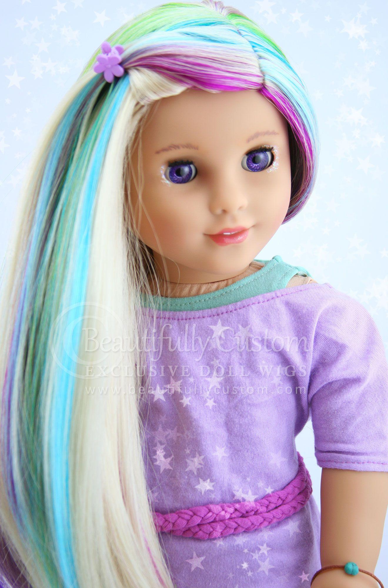 "Starry Sprinkles"" Elegance Doll Wig for American Girl Dolls"