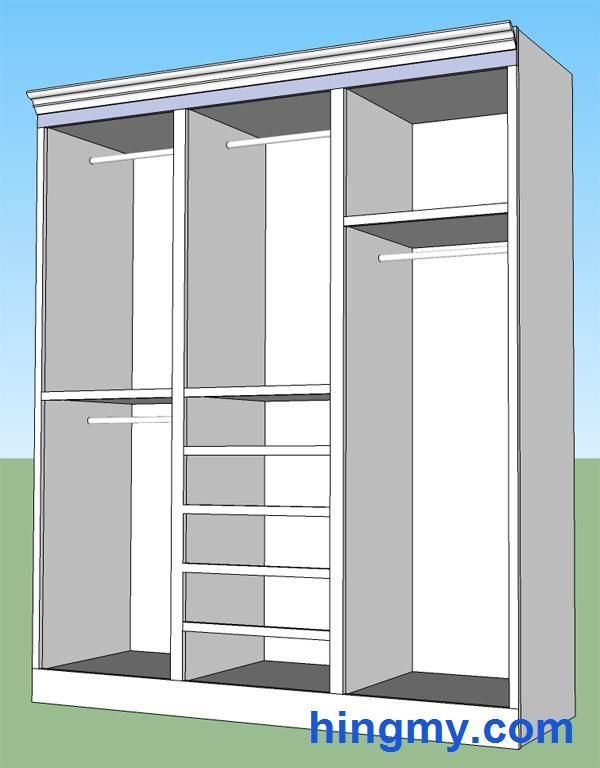 How to install a built-in closet