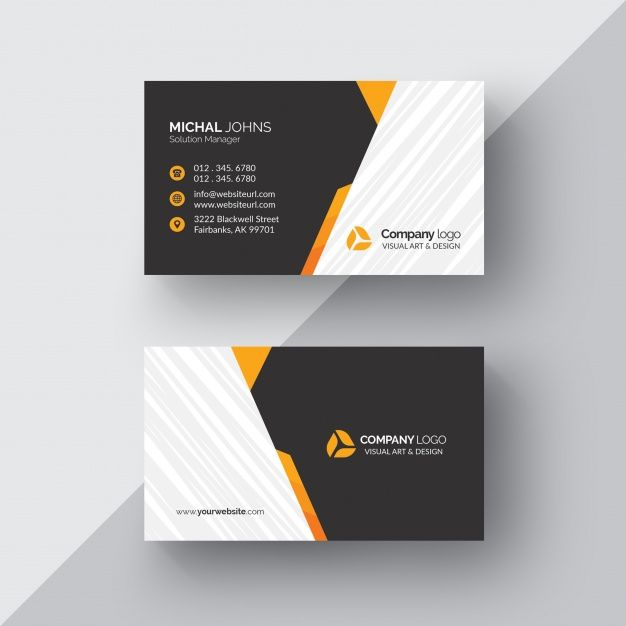 Black business card with orange details free psd bsnss crd black business card with orange details free psd reheart Images