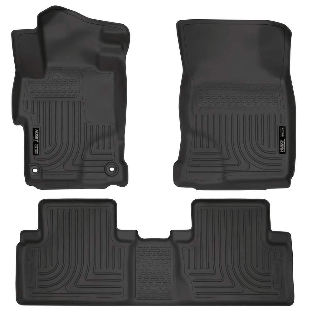 Husky Liners Front 2nd Seat Floor Liners Fits 14 15 Civic Ex Ex