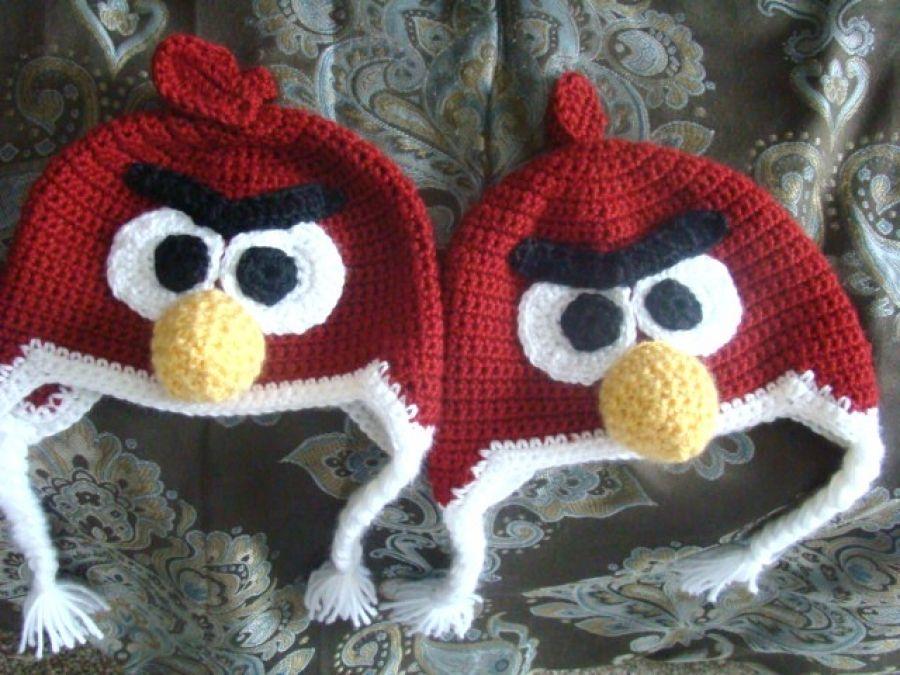 Red Angry Bird Hat Pantuflas f8e7f5e3932