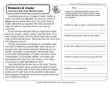 Elements and atoms k12 pinterest cross curricular reading week 23 reading comprehension c 23 a reading segment describing the use of data to make graphs cross curricular focus mathematics urtaz Choice Image