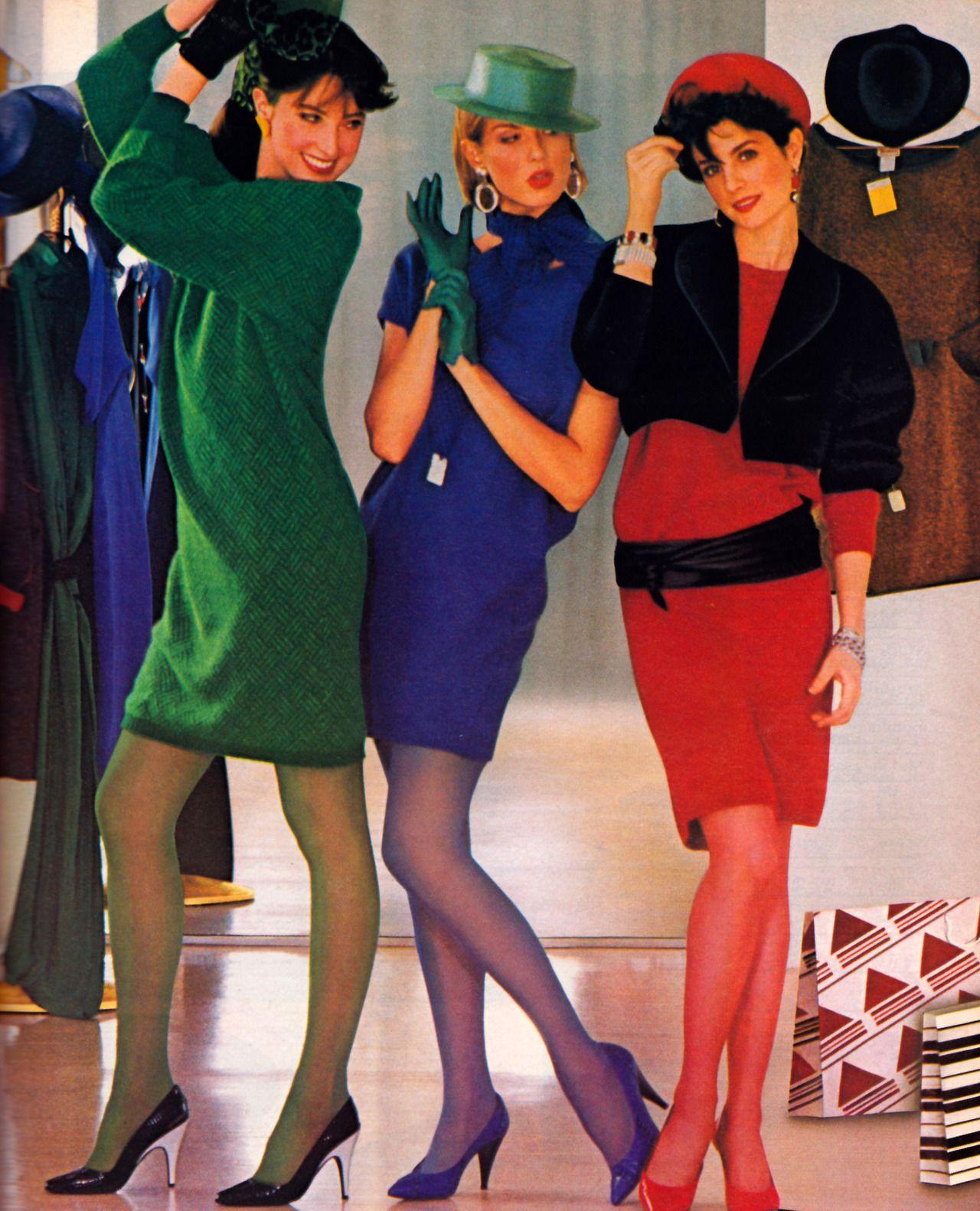Hanes mademoiselle magazine september 1984 80s glam 80er mode und mode - 80er damenmode ...