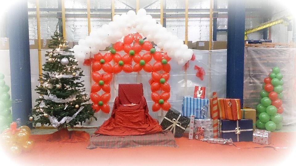 Christmas balloon decoration // decoraçao de natal com balões