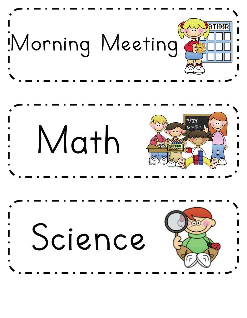 Mrs. Ricca's Kindergarten Daily Schedule {Freebie
