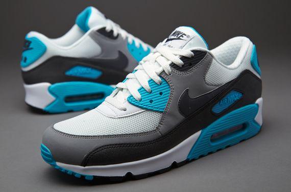 f10a8c90b277 Nike Air Max 90 Essential - Mens Select Footwear - Summit White-Dark  Charcoal-Medium Grey-Black