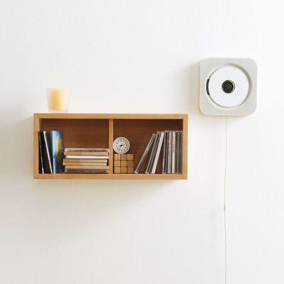 wand cd player mit radio und fernbedienung industrial. Black Bedroom Furniture Sets. Home Design Ideas