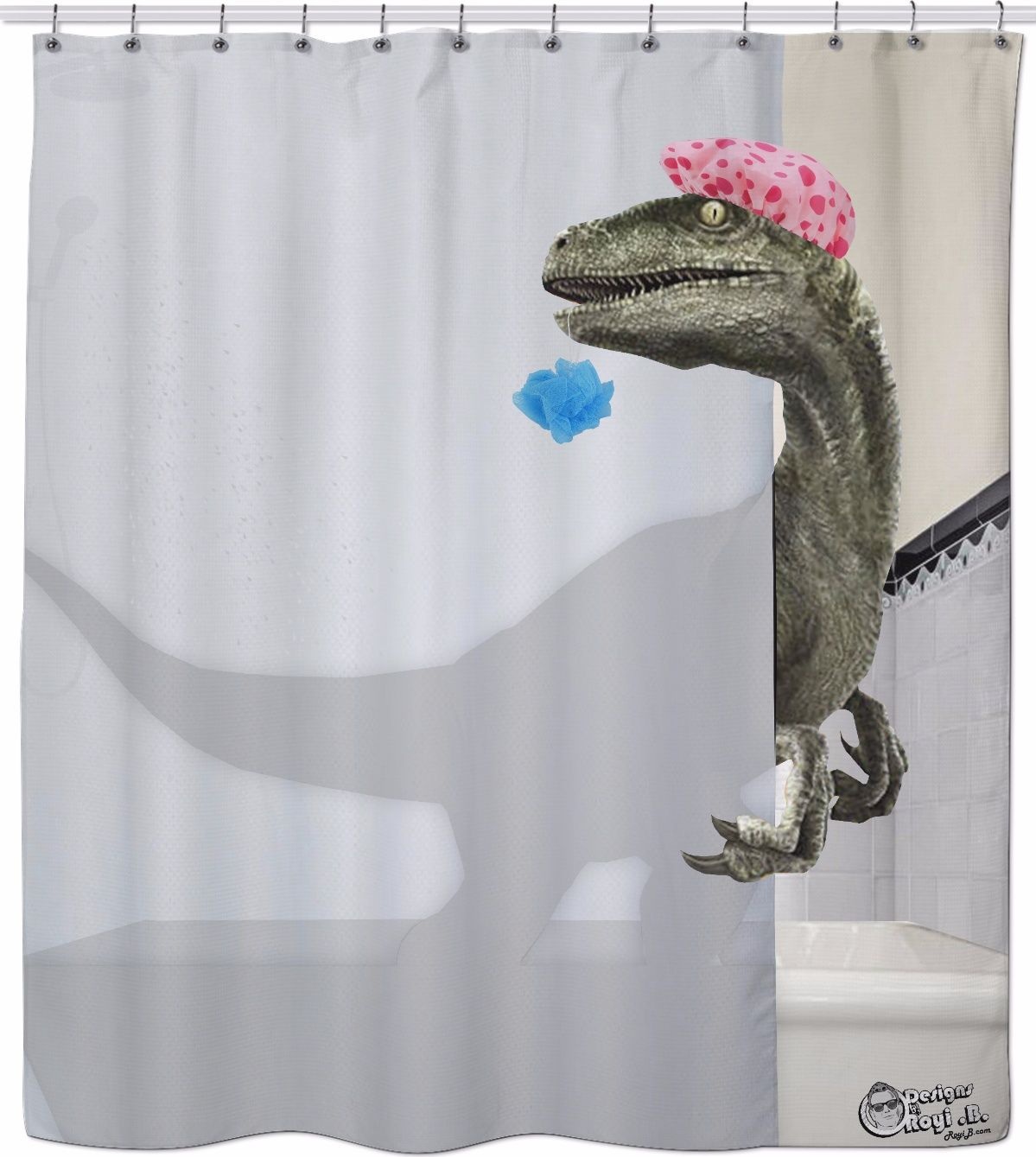 Velociraptor Shower Curtain Cool Shower Curtains Shower Curtain