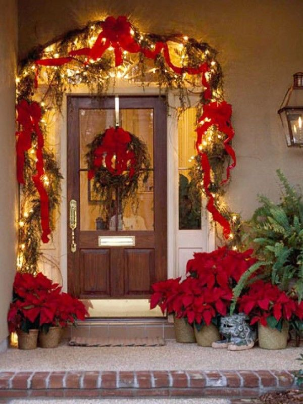 images of entryways decorated for christmas Christmas Lights