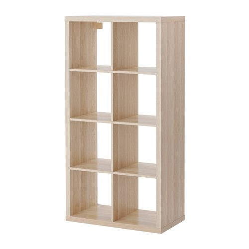 Ikea Kallax Shelving Unit White Stained Oak Effect 77x147 Cm You Can Use The Furniture As A Room Divider Because It Looks Good From Every Angle