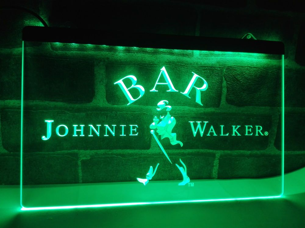 Led Sign Home Decor Inspiration La439 Bar Johnnie Walker Whiskey Led Neon Light Sign Home Decor Inspiration Design