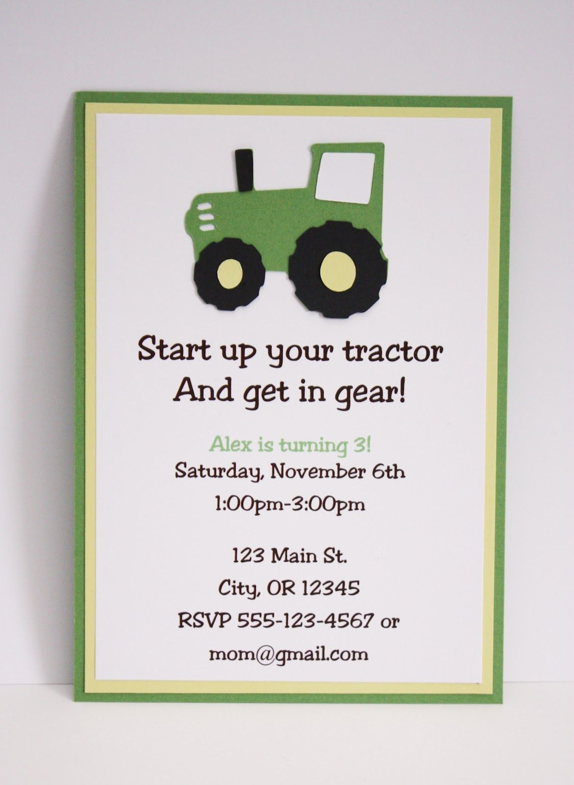 cute bridal shower photo booth | Green & Yellow Tractor Party Sign ...