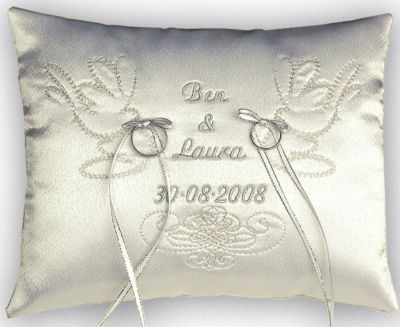 Wedding Ring Cushion Personalised Cushions Great Gift