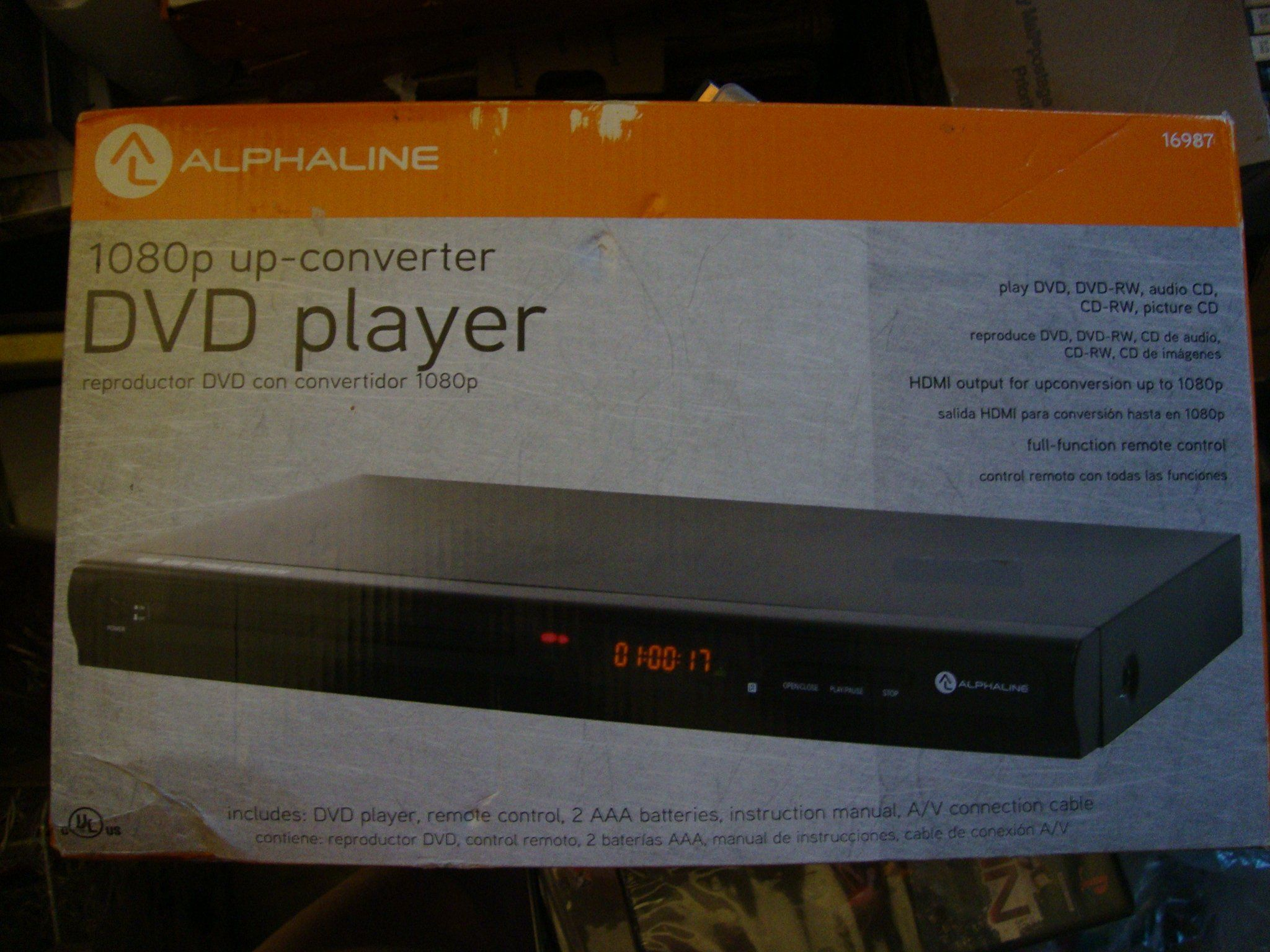 Alphaline DVD-5010 DVD Player With HD Upconversion 1080p
