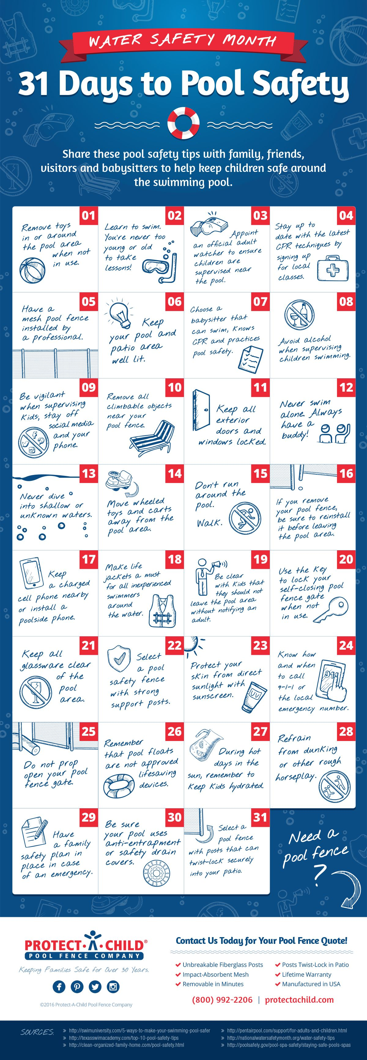 31 Pool Safety Tips For Water Safety Month Infographic Water Safety Pool Safety Safety Infographic [ 3459 x 1200 Pixel ]