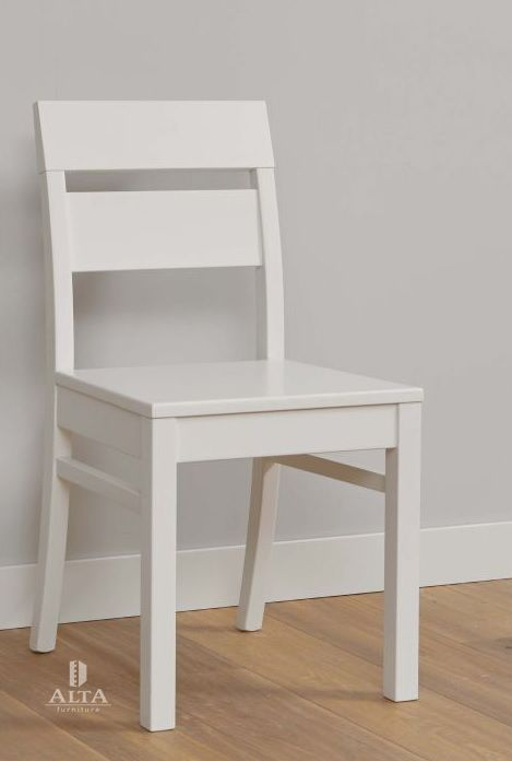 Stoel alta is een houten stoel eetkamer slaapkamer kledingstoel kleur wit modern slaapkenner - Kleur kinderen slaapkamer ...