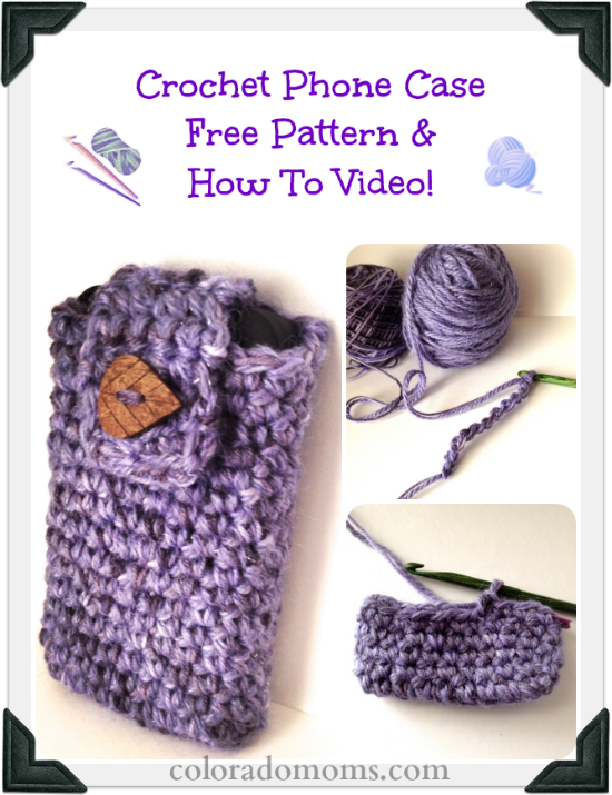 Free Crochet Phone Case Pattern With How To Crochet Video Häkeln