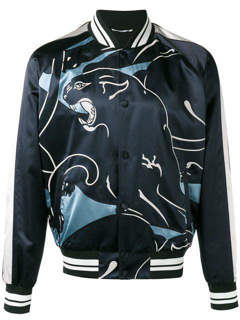 Valentino lion print bomber jacket