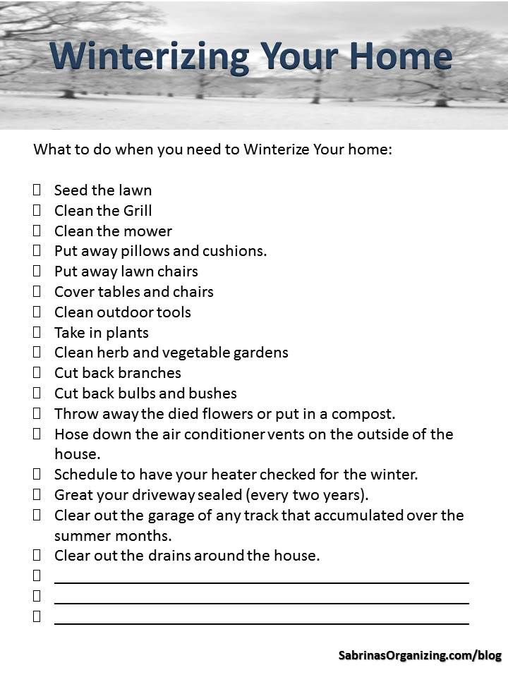 Photo of How to Create a Winterizing Your Home Checklist | Sabrinas Organizing