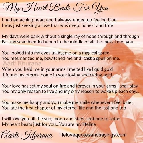 my heart beats for you in a heartbeat cute quotes soulmate love quotes