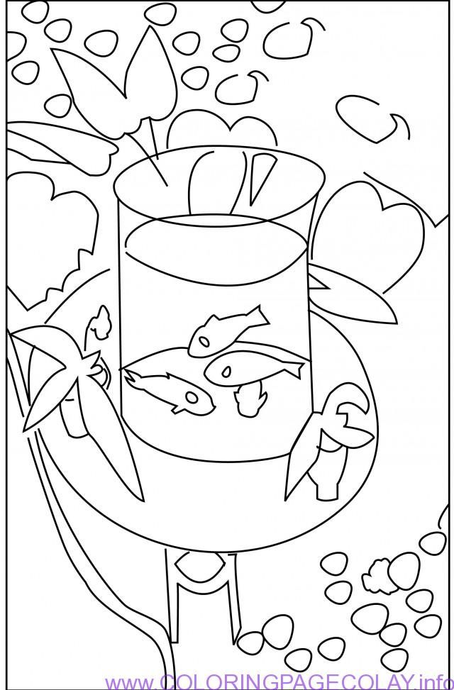 Best Goldfish Coloring Page Picture Hd Book Matisse 39 S