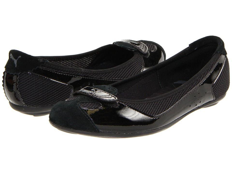 PUMA Zandy Mesh Wn's Black Flats Shoes Place