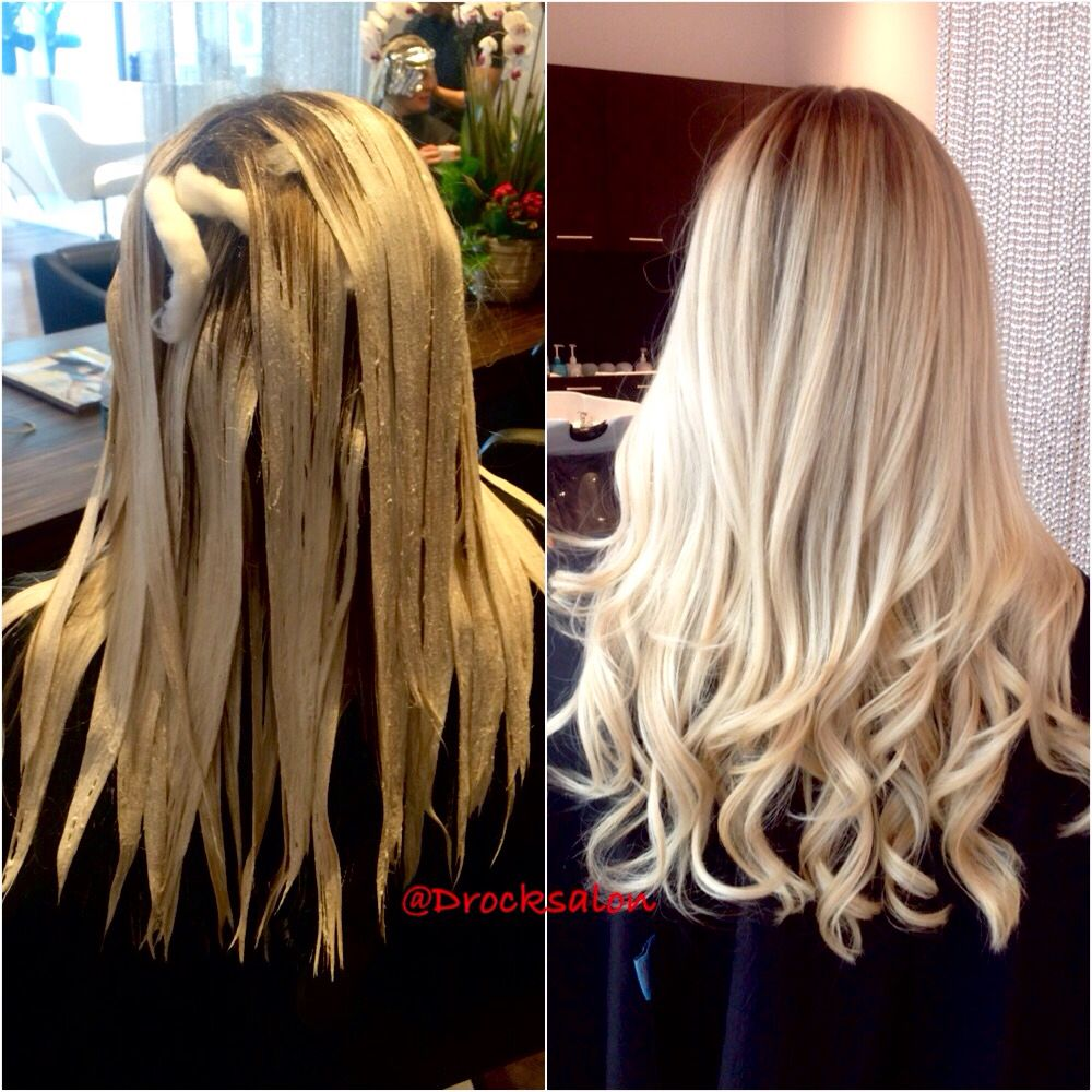 Hair Painting Blond Balayage D Rock Salon Fairfax Va 703 293 9400