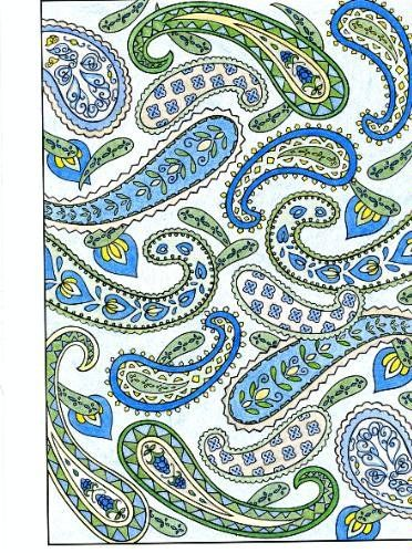 Paisley Designs Coloring Book Dover Design Books Marty Noble 9780486456423
