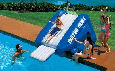 Intex Waterslide Amazon Toys Games Swimming Pool Water Inflatable Water Slide Pool Water Slide
