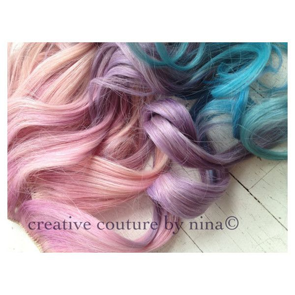 Ombre Hair Lavender Pink And Blue Pastel Hair Extensionshuman