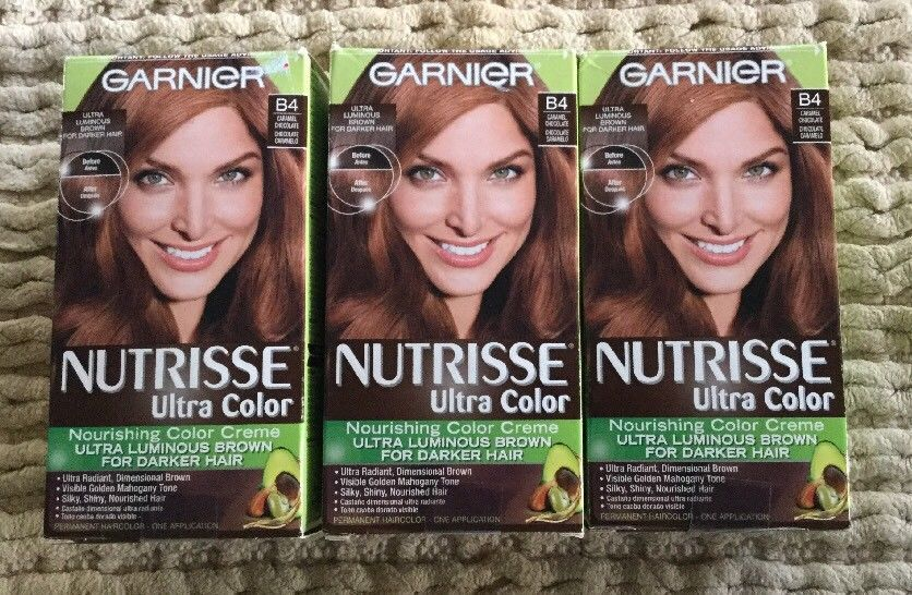 Lot Of 3 Garnier Nutrisse Ultra Color Creme Bold B4 Caramel Chocolate Hair Ebay