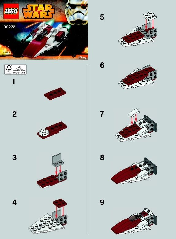 1.Star Wars - A-Wing Starfighter [Lego 30272] | Lego Instructions ...
