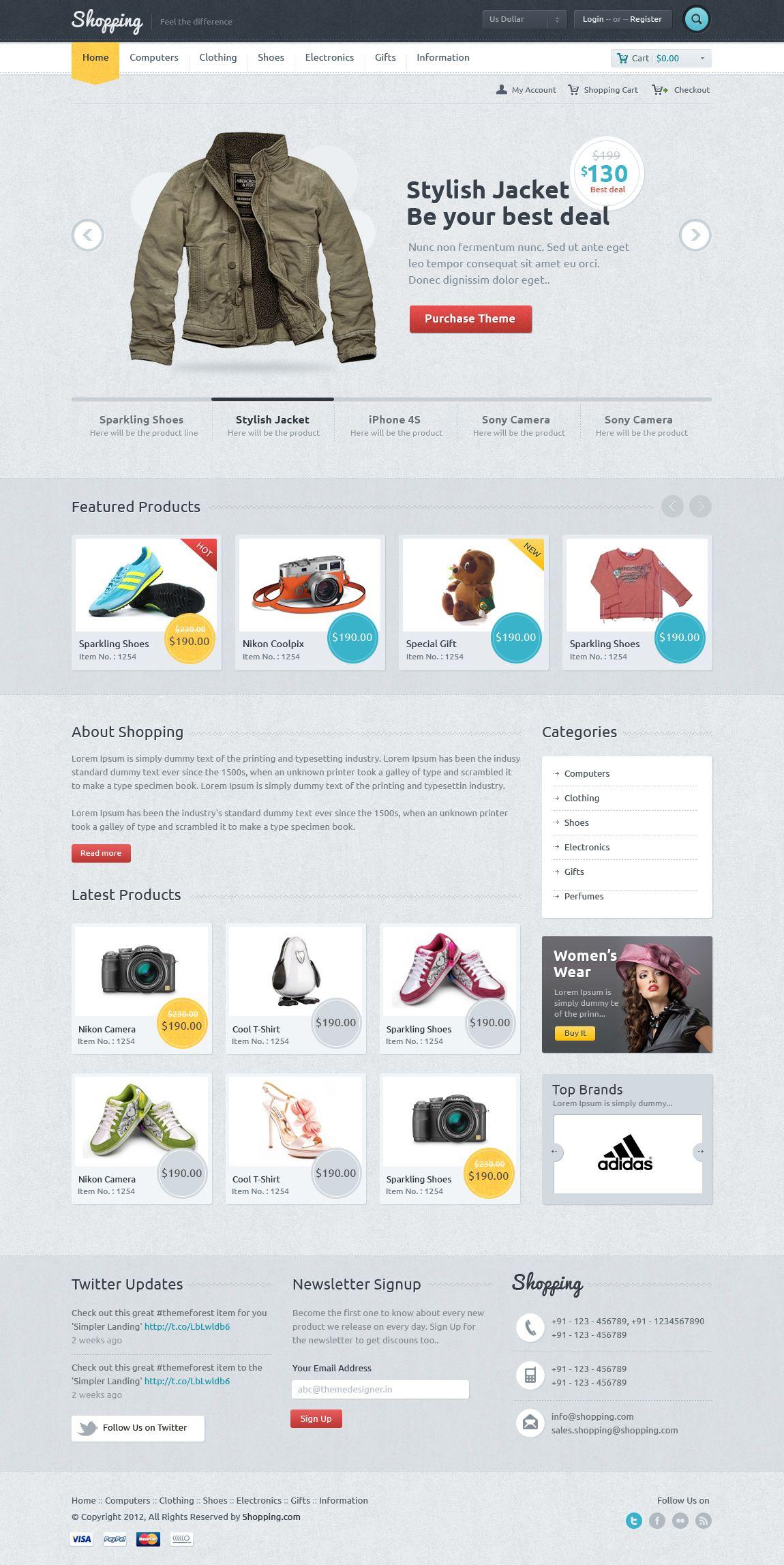 12 Examples Of Minimal Clean E Commerce Design Pinterest