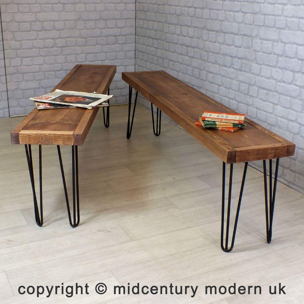 Hairpin Legs Vintage Industrial Reclaimed Timber Mid