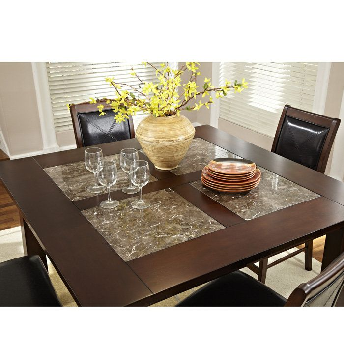 "$560 granita 54"" counter height dining table with granite inlays"
