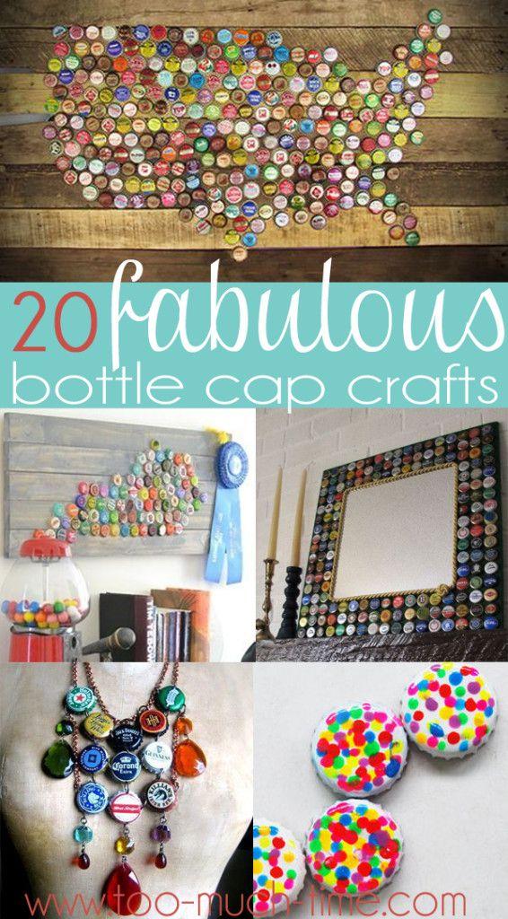 Confira Algumas Idéias Geniais Para Usar As Tampinhas De Garrafa Adorable Bottle Cap Decorations