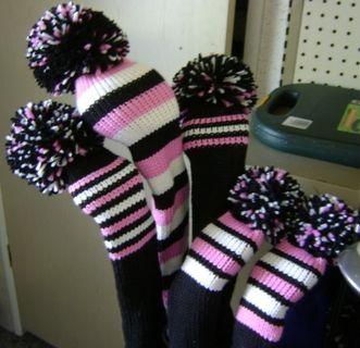 English Free Knitting Patterns Lion Brand Yarn Company Knit Golf Club Covers Golf Clubs