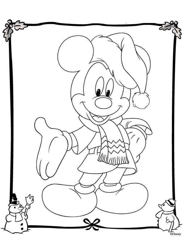 kleurplaat kerstmis disney n coloring pages