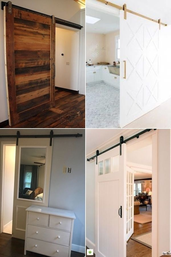 Small Sliding Barn Door | Solid Wood Interior Barn Door ...