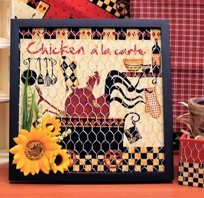 DIY Marinated Chicken Wire Frame - Chicken wire is not just for ...