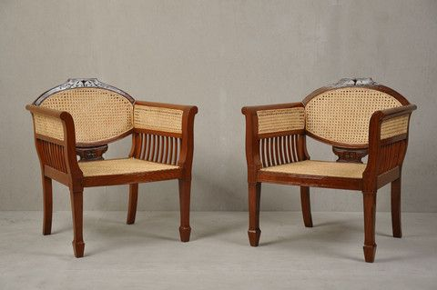 Pair Of Colonial Chairs U2013 The Calcutta Restoration Company